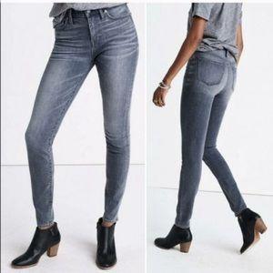 "Madewell 9"" High Riser Skinny Skinny Jeans Shaw"